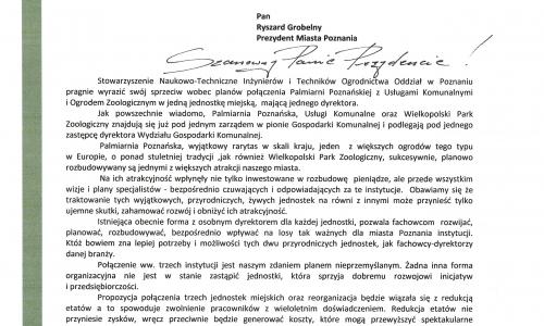 List otwarty do Prezydenta Miasta Poznania